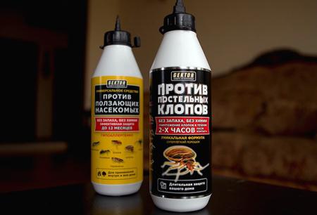 Инсектицидные средства Гектор от постельных клопов и других насекомых
