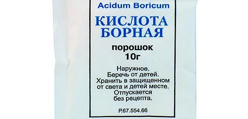 Использование борной кислоты против тараканов