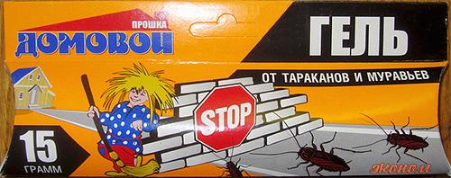 Российский гель от тараканов Домовой тоже позволяет эффективно избавиться от тараканов