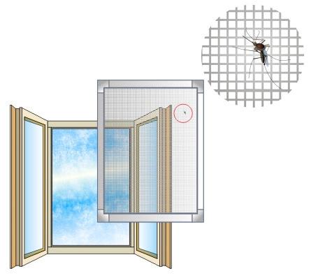 От попадания насекомых в квартиру помогает москитная сетка