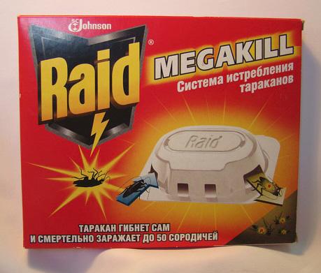 Ловушки для тараканов Raid
