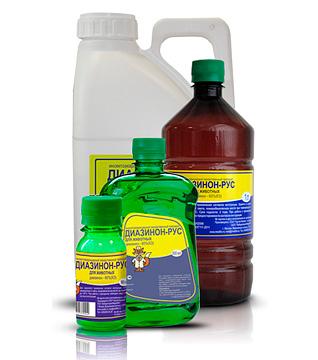 Инсектицидные средства на основе диазинона