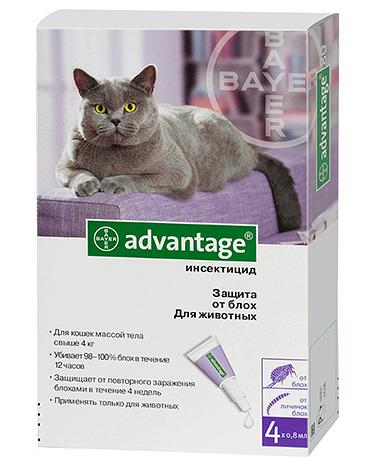 Капли от блох и клещей rolfclub 3d для кошек весом более 4 кг.
