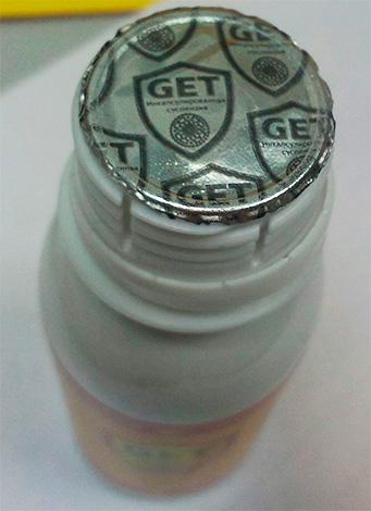 Оригинальный препарат имеет фольгированную мембрану с логотипом Get