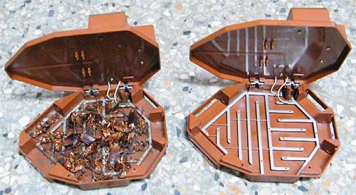 Электрическая ловушка для тараканов: вид изнутри