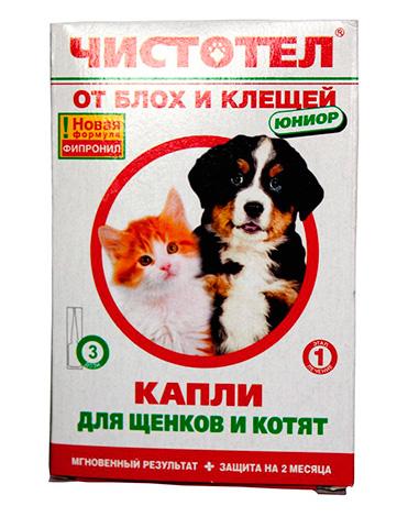Капли от блох для щенков и котят Чистотел