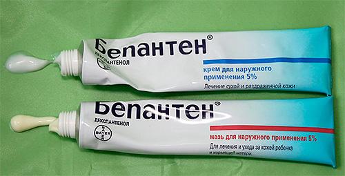 Бепантен выпускается в форме мази и крема