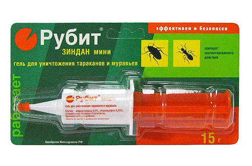 Рубит Зиндан - гель для уничтожения тараканов и муравьев