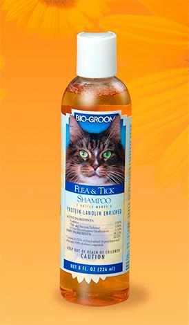 Шампунь от клещей и блох для кошек BIO-GROOM