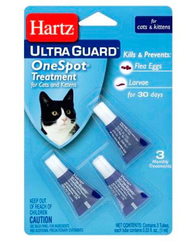 Капли от блох Hartz для кошек и котят