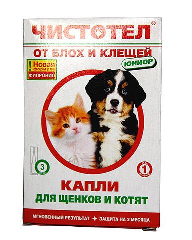 Капли Чистотел от блох у щенков можно использовать только после двухмесячного возраста
