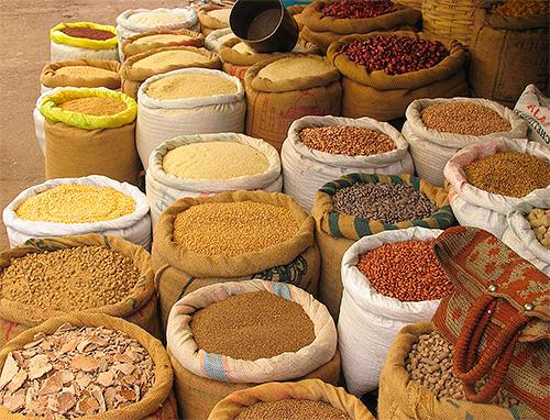 Всевозможные крупы - излюбленная еда пищевой моли