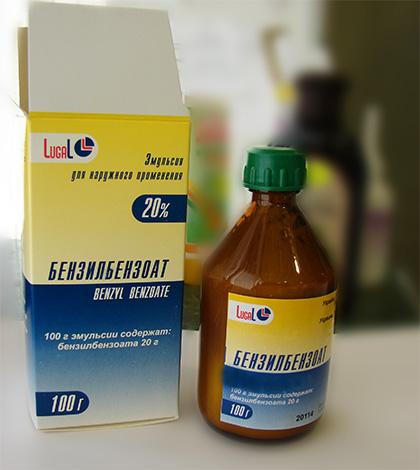 Бензилбензоат в форме эмульсии