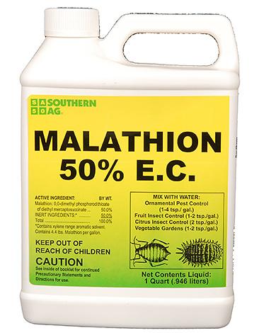 Часто Карбофос реализуется под названием Малатион, например, в виде 50%-го концентрата эмульсии