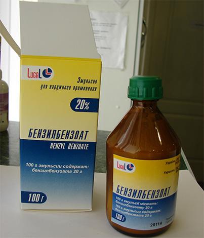 Бензилбензоат применяется как против вшей, так и против чесоточного клеща