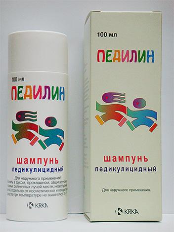 Шампунь Педилин с успехом применяется для уничтожения вшей