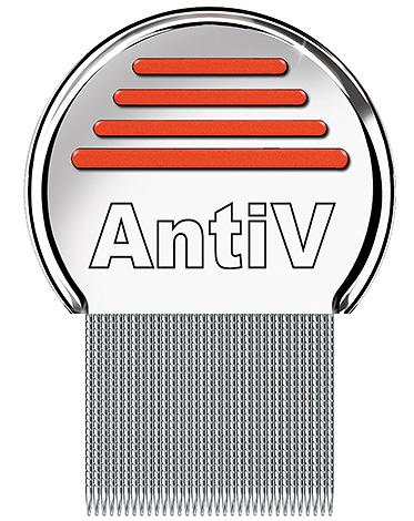 Гребень AntiV - весьма эффективное средство для вычесывания вшей и гнид из волос