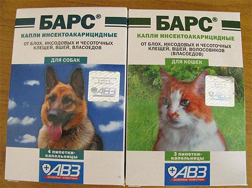 Капли Барс от блох для собак и кошек