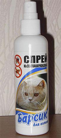 Спрей от блох Барсик - специально для котов