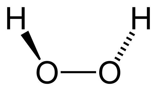 Структурная формула перекиси водорода
