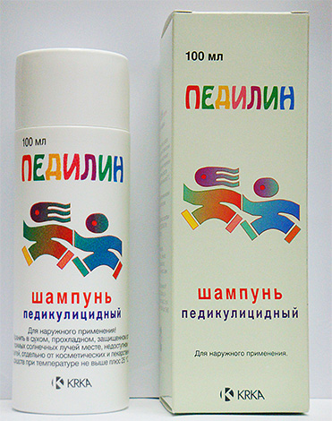 Педикулицидный шампунь Педилин содержит сразу два инсектицида разной химической природы