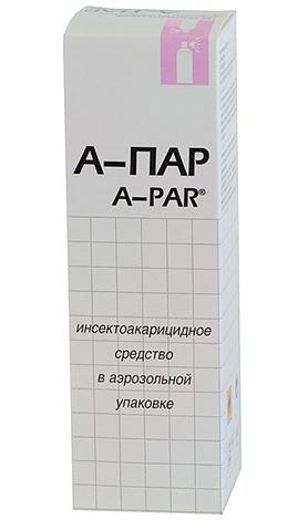 Аэрозоль А-Пар используется против платяных вшей