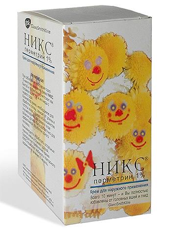 Крем Никс содержит в качестве действующего вещества перметрин