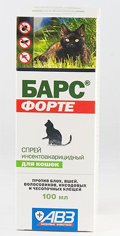 Спрей от блох Барс для котов и кошек