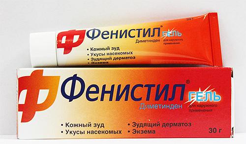 Для снятия зуда от укусов блох можно воспользоваться Фенистил-гелем