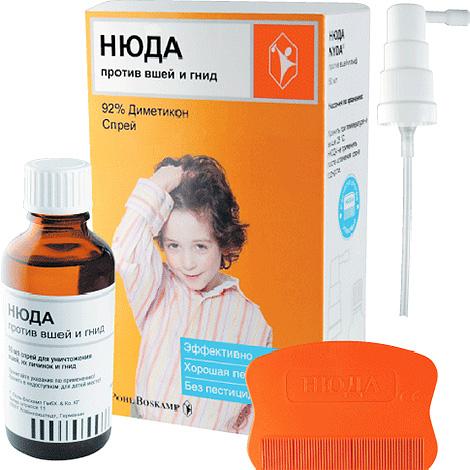 Спрей Нюда можно использовать даже для выведения вшей у детей