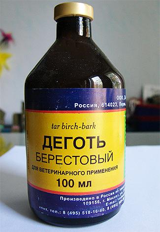 Березовый деготь является сильным антисептиком, но выраженным инсектицидным эффектом не обладает.