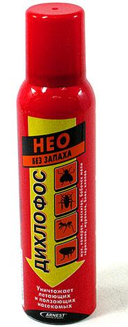 В составе Дихлофоса Нео сразу три инсектицида, при этом средство не имеет сильного запаха