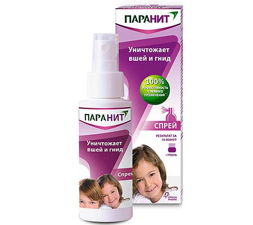 Спрей Паранит является хорошим лекарством от взрослых вшей, но на гнид он почти не действует.