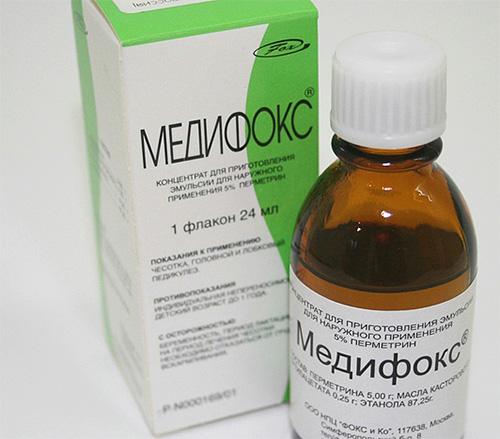 Медифокс - серьезное лекарство от вшей, и применяют его в основном в спецприемниках.