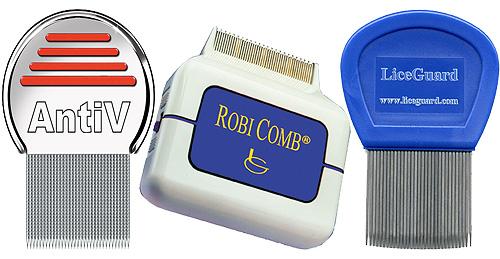 Наиболее популярные гребни для вычесывания вшей и гнид - AntiV, LiceGuard, Robi Comb