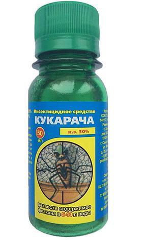 Концентрат для спрея Кукарача эффективен против клопов, но имеет неприятный запах