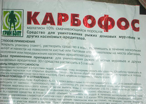 Средство Карбофос одинаково эффективно против тараканов и клопов