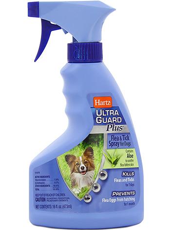 Спрей Hartz можно использовать не только против блох и клещей, но также против собачьих вшей и власоедов