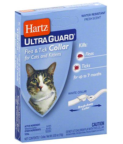 Ошейник Hartz для кошек от блох и клещей
