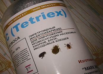 Тетрикс является средством от насекомых для профессионального применения и имеет весьма неприятный запах