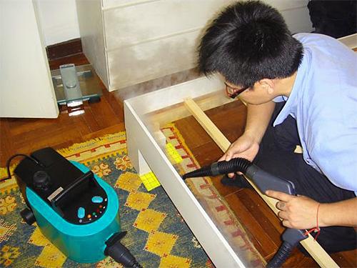 Парогенератор позволяет уничтожать гнезда паразитов лишь на относительно доступных поверхностях.