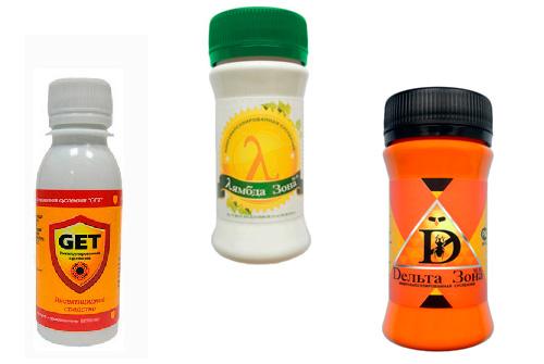 Примеры высокоэффективных инсектицидных препаратов, практически не имеющих запаха - Get, Дельта Зона и Лямбда Зона