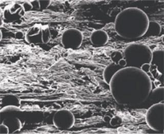 Микрокапсулы инсектицида на обработанной поверхности