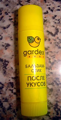 Такой вот бальзам-стик Gardex Baby вполне можно применять при укусах осы у детей.