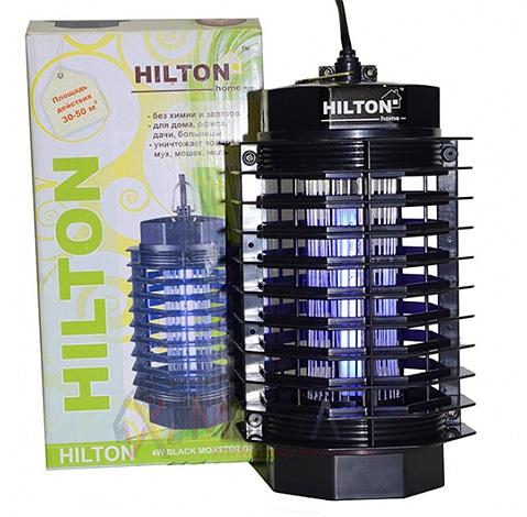 Лампа Hilton Black Monster GP-4 подойдет для защиты от насекомых небольшой комнаты.