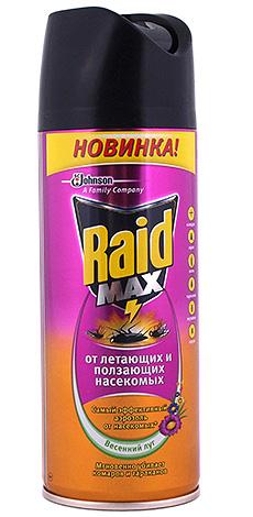 Аэрозоль Рейд Макс от летающих и ползающих насекомых