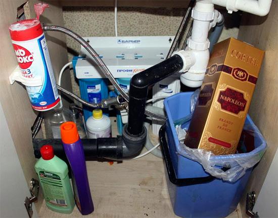 Идеальное место укрытия тараканов - раковина на кухне и мусорное ведро под ней, как неиссякаемый источник пищи.