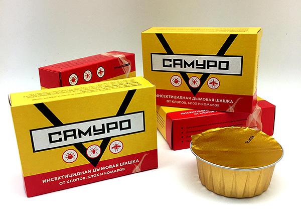 Дымовая шашка Самуро для обработки помещений от насекомых