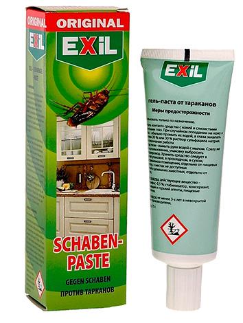 Гель-паста от тараканов Exil (позиционируется как аналог немецкого геля Globol).