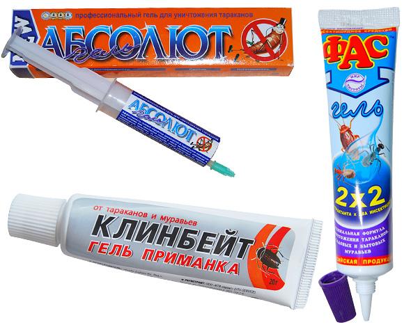 Гели, применяемые при борьбе с тараканами и муравьями в доме, вполне эффективны и против мокриц.